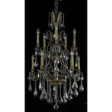 almont 10 light candle style chandelier finish crystal color crystal trim