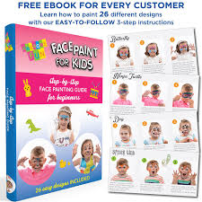 best quality professional face painting party set safe non toxic water based bonus guide