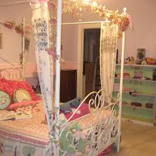 Best Bombay Kids Full Size White Metal Canopy Bed for sale in ...
