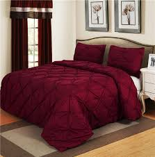 luxurious bedding sets vine red home textile pinch pleat 2 3pcs twin queen