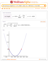 tell me the arc length of y x 2 8820 10x