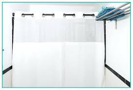 hammacher schlemmer clear top shower curtain window