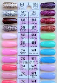 Dnd Gel Color Chart Daisy Dnd Color Swatches Esthers Nail Corner