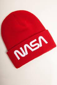 Шапка <b>MISTER TEE NASA</b> Worm Logo Beanie (Red) | www.gt-a.ru