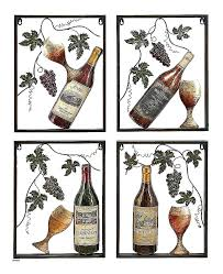 paper wine metal wall art themed