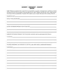 Sample Incident Report Form For Schools Patient Safety