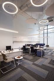innovative lighting and design. Office: Innovative Lighting And Carpet In Gray Give The Interior A Smart Contemporary Look Design