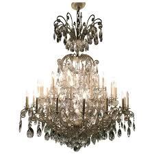 monumental german schonbek painted brass and crystal chandelier