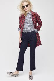 frederikke sofie wears j crew collection red plaid trench coat