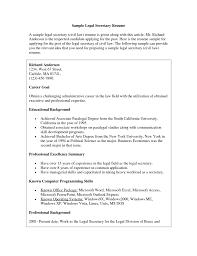 Secretary Resume Sample Cover Letter For Medical Secretary Resume Samples Secretary 87