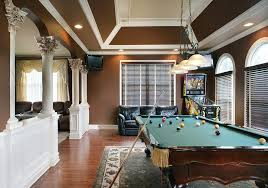 games room lighting. Angled Ceiling Family Room Traditional With Pool Table Lighting Rectangular Area Rugs Games