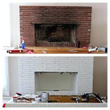 excellent refinish brick fireplace check out our featured refacing a painted brick fireplace with stone