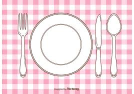Setting A Dinner Table Colorful Dinner Table Setting Vector Pack Download Free Vector