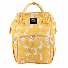 Yellow Designer Backpack Us 21 47 31 Off Cute Printed Baby Nappy Bag Large Capacity Diaper Bag Travel Backpack Designer Stroller Bag Baby Care Mummy Nappy Backpack In Diaper