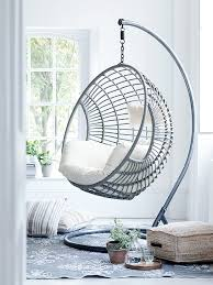 elegant design of the indoor swing chair with silver color ideas for swinging 1