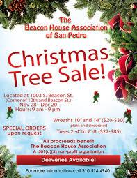 Beacon House Christmas Tree Sale Sale! - The Association of San Pedro