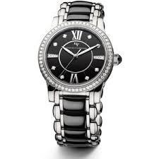 men s watches polyvore david yurman classic 34mm stainless steel quartz watch black ceramic and diamonds