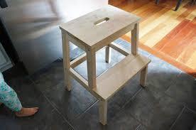 Spruced up step stool: IKEA Bekvam