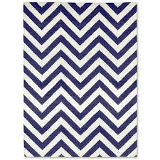 navy herringbone reversible peruvian flat weave rug alt image 1