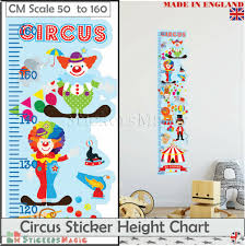 Boys Height Chart Uk Details About Circus Height Chart Wall Sticker Measure Kids Boys Childrens Art Ruler Growth Uk