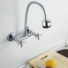 Gorgeous Awesome Wall Mount Kitchen Faucet And Mounted With