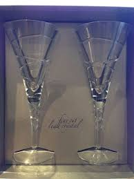 finecut debenhams lead crystal glasses x 2 unused gift in hale