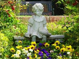 children garden statues. Concrete Garden Statues Of Children Add Interest To A Yard, Deck Or Patio