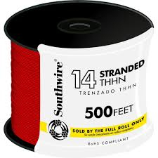 14 black stranded cu thhn wire 22955958 the home depot