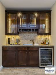 glass cabinet lighting. Bridgewater\u0027s Custom Bar In The Finished Lower Level. Includes Glass Front Cabinets With LED Cabinet Lighting