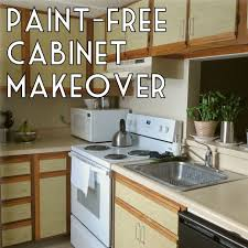 Paint Your Kitchen Cabinets How To Make Over Your Kitchen Cabinets Without Paint The Decor Guru