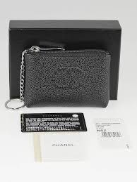 chanel key holder. chanel black caviar leather o-key holder key s
