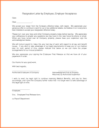 A Resignation Acceptance Letter Is The Letter To An Employee From
