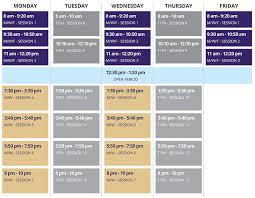 2019 2020 Time Schedule Matrix Uw Tacoma