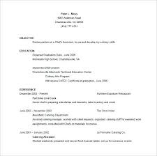 Chef Resume Example Free Assistant Chef Resume Word Template Chef
