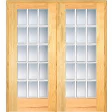 mmi door 60 in x 80 in left hand active unfinished pine glass 15 rh homedepot com 60 exterior french door 60 x 80 interior french door