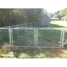 Image Galvanized Hoover Fence Residential Chain Link Double Swing Gate All 138 Hoover Fence Co Hoover Fence Residential Chain Link Double Swing Gate All 138