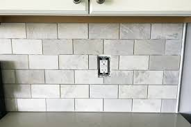 diy how to install a marble subway tile backsplash tiling tips subway tile