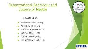 Nestle Organisational Structure