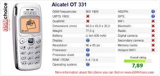 Alcatel OT 331 :: GSMchoice.com