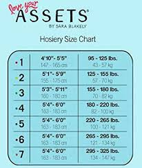 Assets By Spanx Size Chart Assets By Sara Blakely Spanx 860b Womens Replacement Pack Ultra Sheer Pantyhose