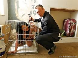 Stocking clad Euro amateur Nicola Kiss freed from cage for.