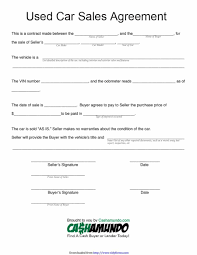 Automobile Sales Agreement 42 Printable Vehicle Purchase Agreement Templates