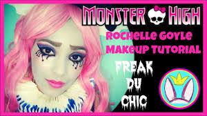 monster high freak du chic roce goyle makeup tutorial costume you