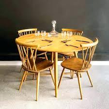 round light oak dining table black drop leaf fold down sides folding small