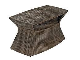 umbrella side table aluminum woven resin wicker umbrella side table chair king umbrella stand side table