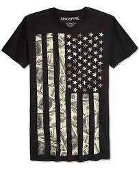 Ring of Fire Men's <b>American</b> Flag Graphic-Print <b>T</b>-Shirt - <b>T</b>-Shirts ...