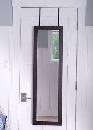 kampbell over the door jewelry armoire with mirror dark walnut