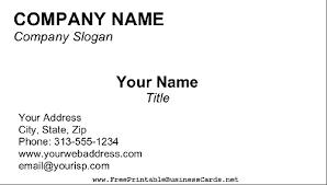 Blank Business Card Template Blank Business Card
