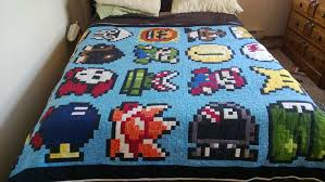 Handmade Mario quilt & Mario Sheet Adamdwight.com