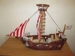 large wooden early learning centre elc toy pirate ship